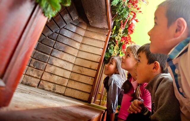 Kids waiting for Santa to come down the chimney.jpeg