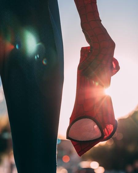 Spiderman mask image by Joey Nicotra via Unsplash